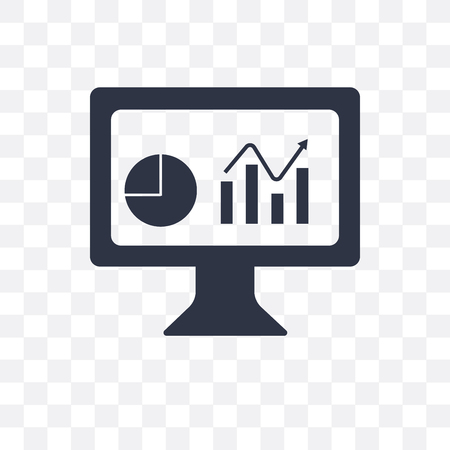 Illustration pour Dashboard vector icon isolated on transparent background, Dashboard concept - image libre de droit