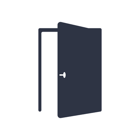 Illustration pour Door icon vector isolated on white background for your web and mobile app design, Door logo concept - image libre de droit