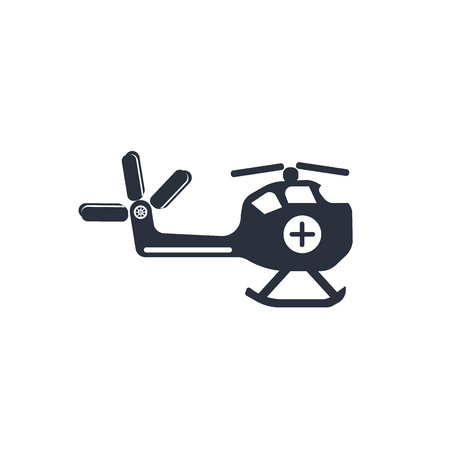 Illustration pour Medical chopper transport icon vector isolated on white background for your web and mobile app design, Medical chopper transport logo concept - image libre de droit