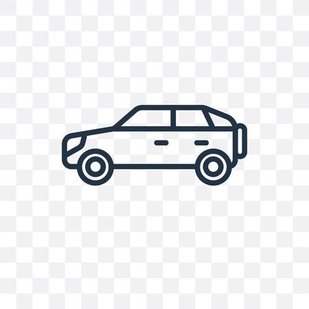 Illustration pour Car vector icon isolated on transparent background, Car logo concept - image libre de droit