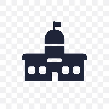 Ilustración de City hall transparent icon. City hall symbol design from Architecture collection. Simple element vector illustration on transparent background. - Imagen libre de derechos