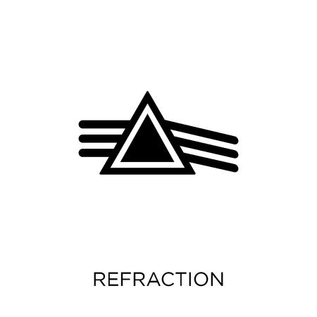 Ilustración de Refraction icon. Refraction symbol design from Science collection. Simple element vector illustration on white background. - Imagen libre de derechos