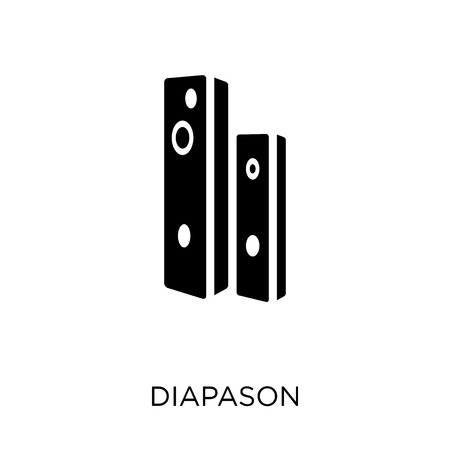 Ilustración de Diapason icon. Diapason symbol design from Music collection. Simple element vector illustration on white background. - Imagen libre de derechos