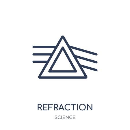 Ilustración de Refraction icon. Refraction linear symbol design from Science collection. Simple outline element vector illustration on white background. - Imagen libre de derechos