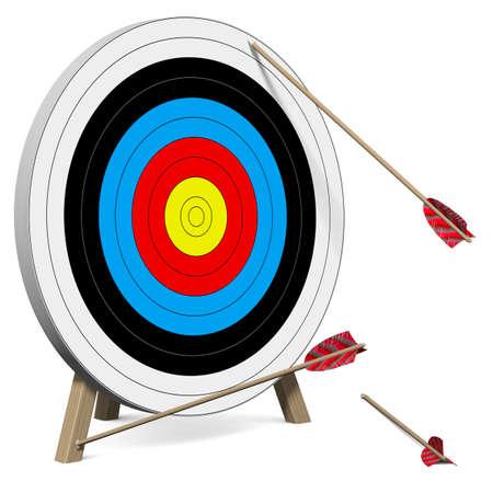Photo pour Arrows do not hit the Target - image libre de droit