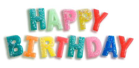 Photo pour congratulation happy birthday on white background - image libre de droit