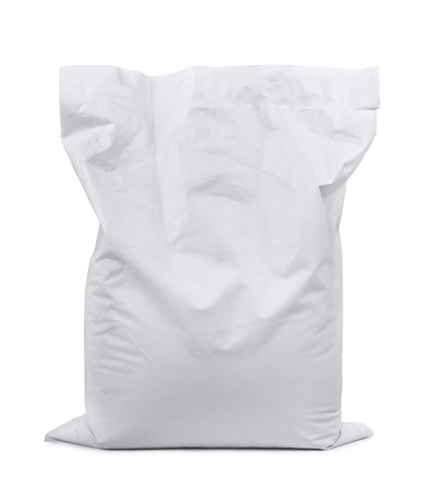 Photo pour White plastic sack isolated on white - image libre de droit