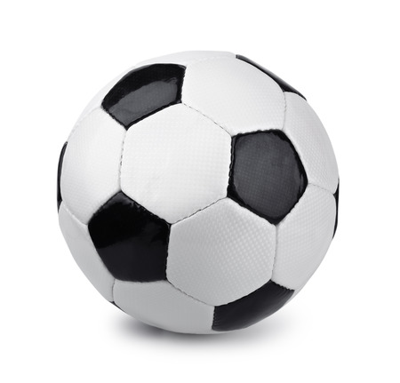 Photo pour Classic soccer ball isolated on white - image libre de droit