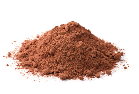 Photo pour Cocoa powder isolated on white - image libre de droit