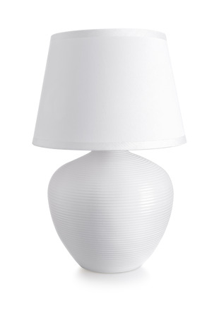 Photo for White ceramics table lamp isolated on white - Royalty Free Image
