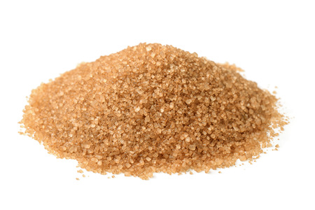Photo for Heap of brown sugar isolated on white - Royalty Free Image