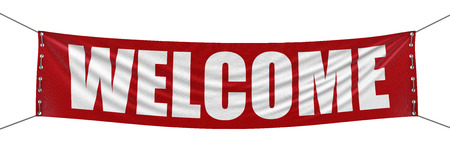 Foto de Welcome Banner  clipping path included  - Imagen libre de derechos