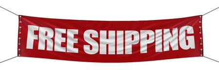 "Foto de ""free shipping"" banner   clipping path included  - Imagen libre de derechos"