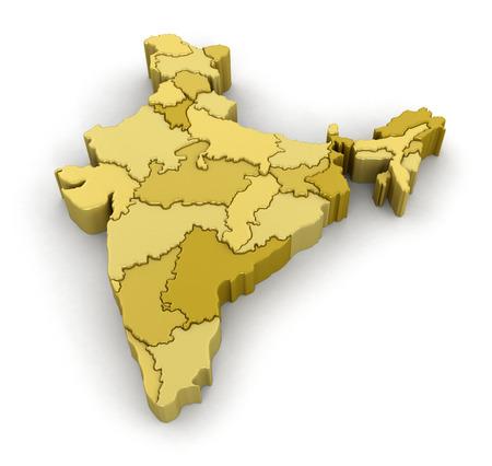 Foto de Map of India. - Imagen libre de derechos