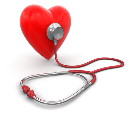 Foto de stethoscope and heart - Imagen libre de derechos