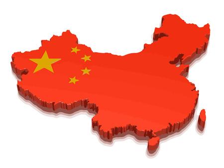 Ilustración de map of china - Imagen libre de derechos