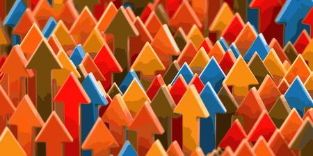 Ilustración de Arrows up Background - Imagen libre de derechos