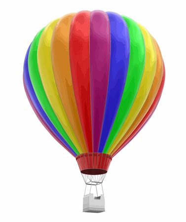 Illustration pour Hot air balloon image with clipping path. - image libre de droit