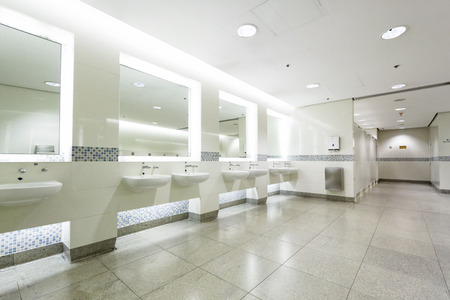 interior of private restroom , toilet