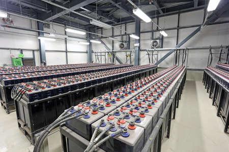 Foto de Sousse, Tunisia - NOVEMBER 18, 2014: FIAMM supplies deep charge industrial batteries - Imagen libre de derechos