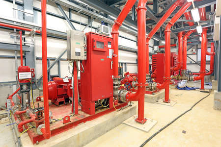 Photo pour Fire Pump Station - image libre de droit