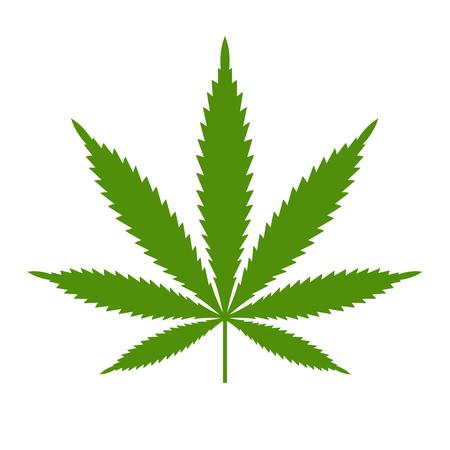 Illustration pour Marijuana or cannabis leaf Icon template isolated illustration on white background. - image libre de droit
