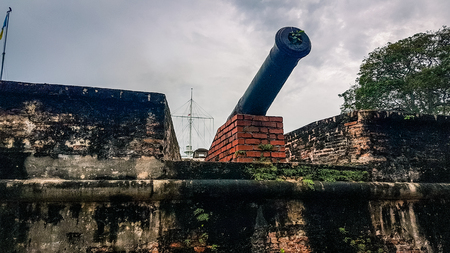 Photo pour Fort Cornwallis Penang Malaysia  South East Asia. Old english colonial fort  a main tourisit attraction for the island - image libre de droit