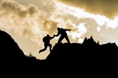 Foto de climbing helper - Imagen libre de derechos