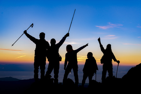 Photo for mountaineer, expedition and the success of the team - Royalty Free Image