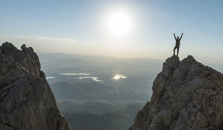 Foto de Victory happiness at the summit - Imagen libre de derechos