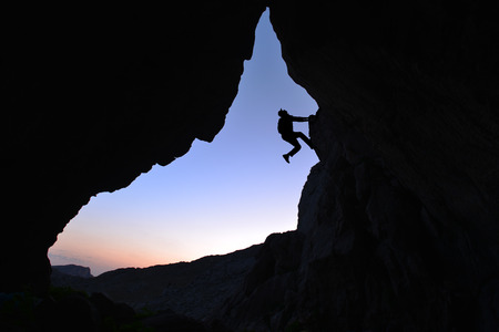 Foto de passion for discovery, curiosity and climbing - Imagen libre de derechos