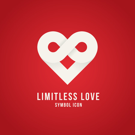 Illustration pour Limitless Love Vector Concept Symbol Icon Logo Template or Valentine Card - image libre de droit