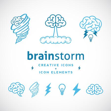 Ilustración de Brainstorm Abstract Creative Logo Template - Imagen libre de derechos