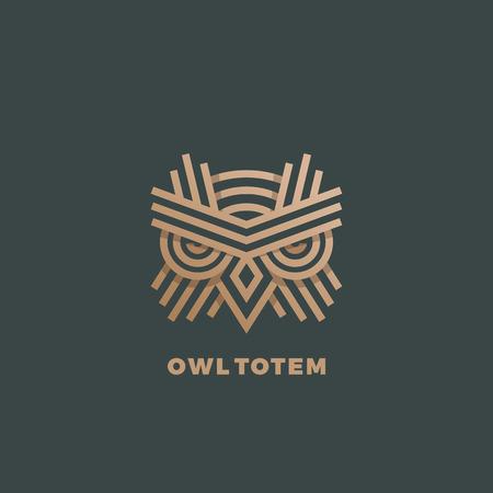 Ilustración de Golden Line Style Geometry Emblem. Dark Green Background. - Imagen libre de derechos