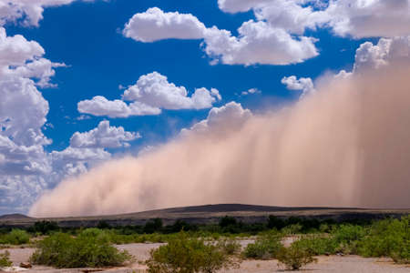 Photo for Haboob dust storm in the Arizona desert - Royalty Free Image