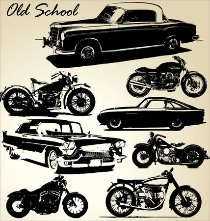 Old School cars and motorbikes