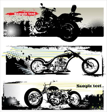 grunge motorcycle banners