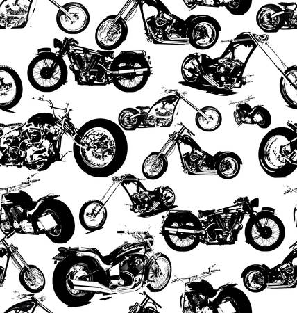 seamless retro motorbike background