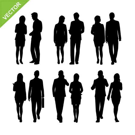 Illustration pour Business people silhouette  - image libre de droit