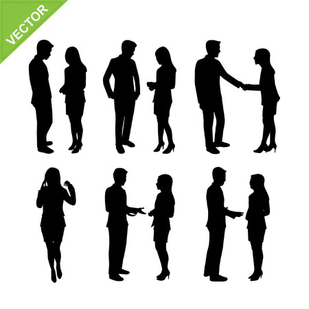 Illustration for Business people silhouette  - Royalty Free Image