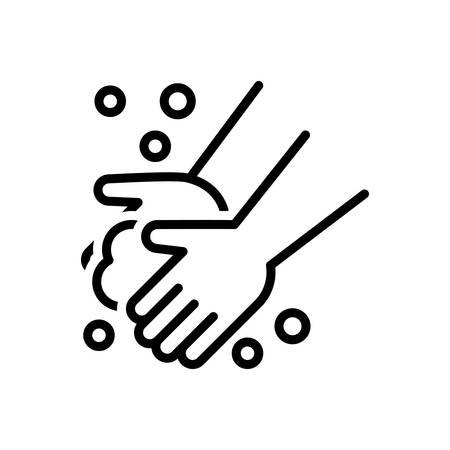 Ilustración de Icon for washing hand,washing - Imagen libre de derechos