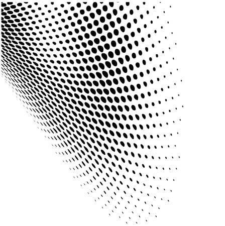 Illustration pour Abstract dynamic dots pattern background - image libre de droit