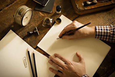 Photo pour Vintage letter and communication concept. - image libre de droit