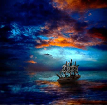 ship an dark sea