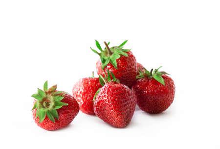 Foto de organic strawberry isolated on white background - Imagen libre de derechos