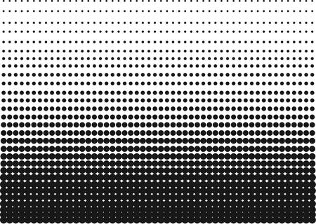 Ilustración de Halftone Gradient made of sharp dots for backgrounds and other uses in advertising or posters. - Imagen libre de derechos