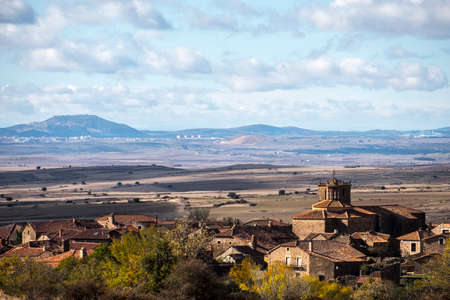 Photo for Countryside landscape around the village of Castilfrio de la Sierra in the province of Soria in Spain - Royalty Free Image