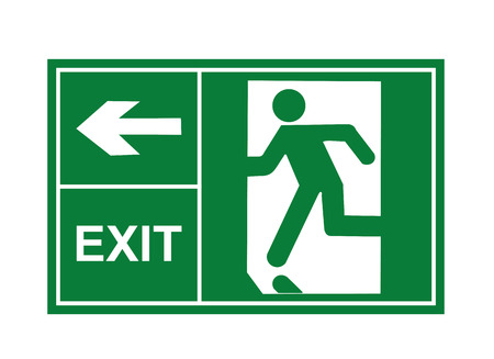Illustration for exit sign vector, exit signs, sign vector, exit vector - Royalty Free Image