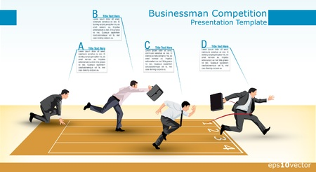 Illustration for Symbolic presentation template of a business competition - Royalty Free Image