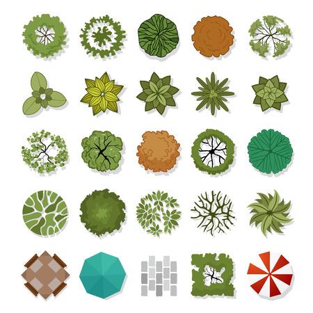 Ilustración de landscape design elements illustration - Imagen libre de derechos